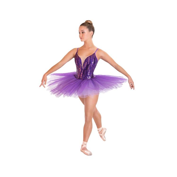 Latest Beautiful honor purple sequin ballet tutu dance costumes