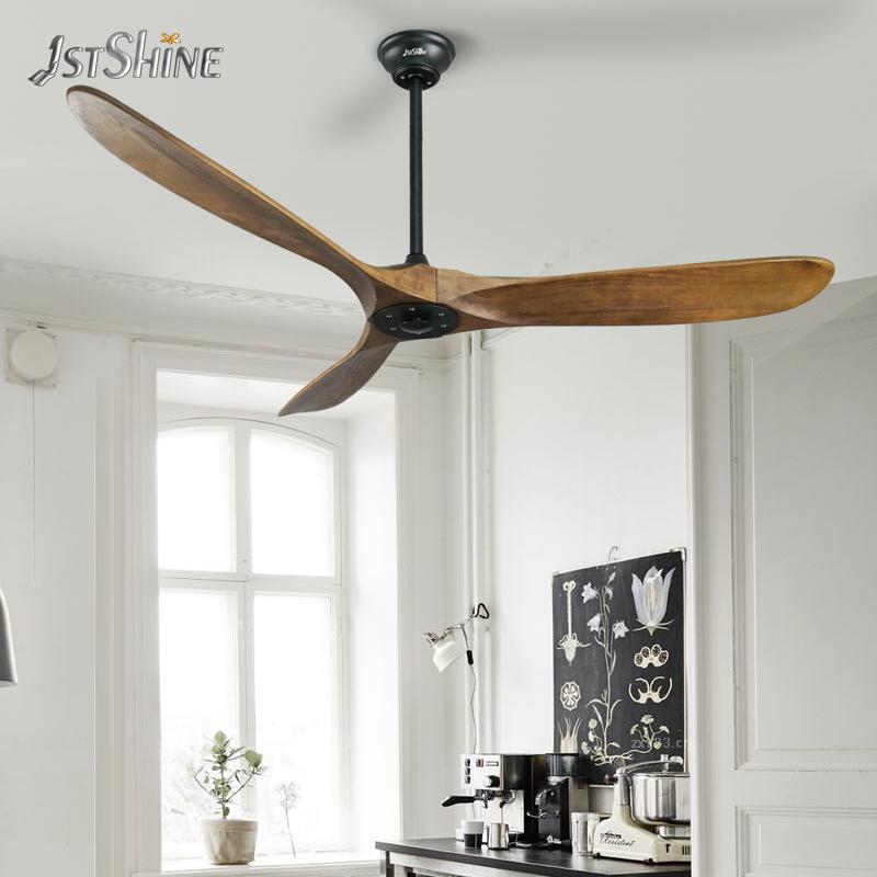 1stshine высококачественный 60 'энергосберегающий потолочный вентилятор с 3 лопастями из массива дерева с пультом дистанционного управления