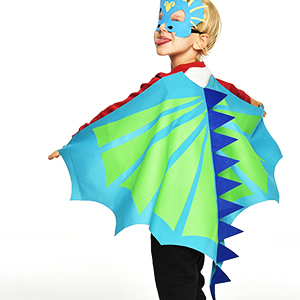Amazon Hotsales Dinosaur Wing With Felt Mask Dragon Animal Capes Birthday Party Costumes High Quality Green Red