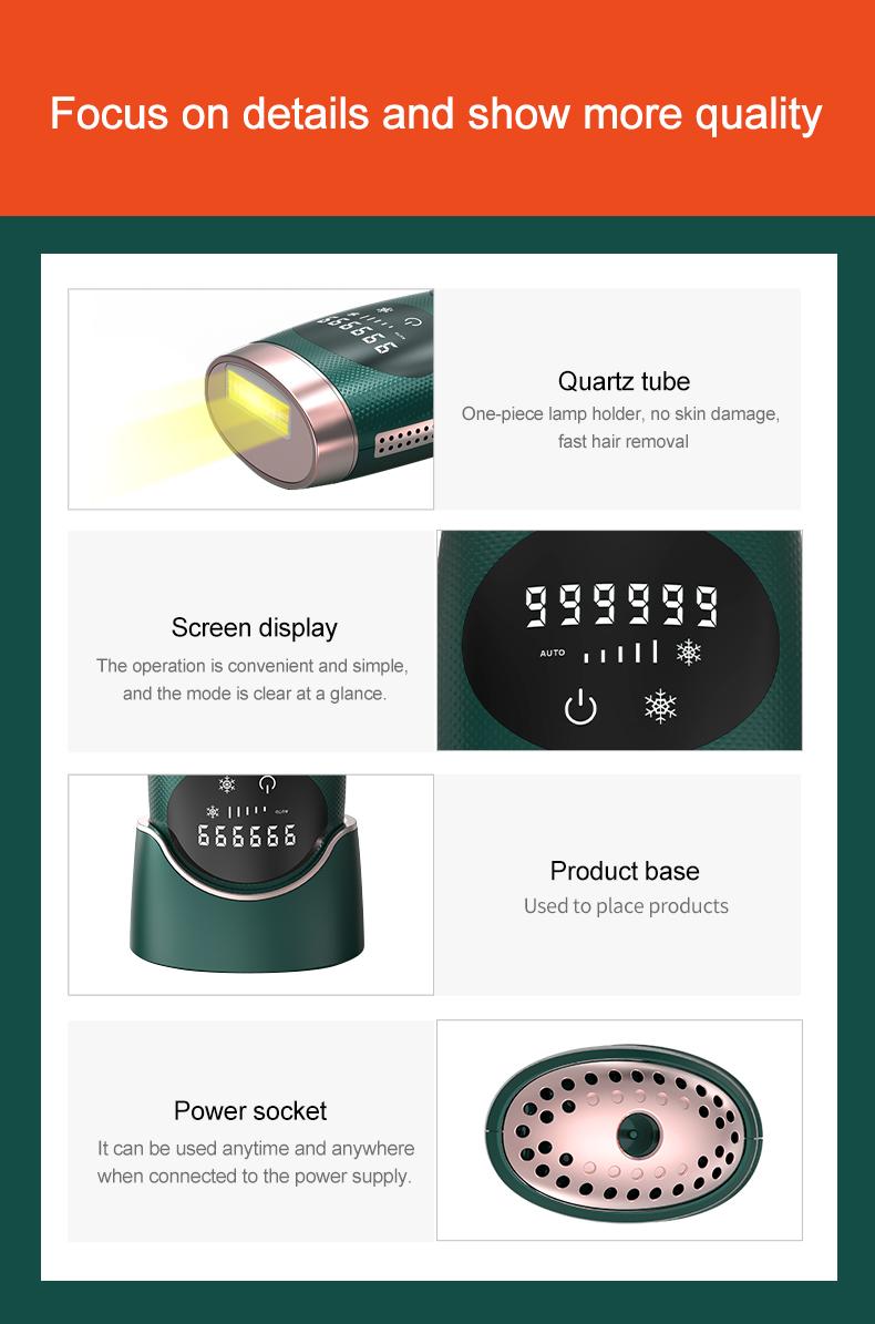 Лидер продаж 2020, портативный лазерный эпилятор, лазерное удаление волос со льда, домашнее лазерное удаление волос с использованием постоянного IPL удаления волос