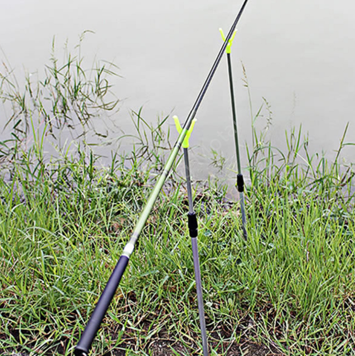 Fish Rod Pole Stand Telescopic Aluminum Alloy Fishing Rod Holder Bracket Fishing Bank Sticks