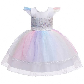 New Style China Supplier Cute Girls Latest Princess Sweet Baby Girl Party Dress Children Frocks Designs Cutting