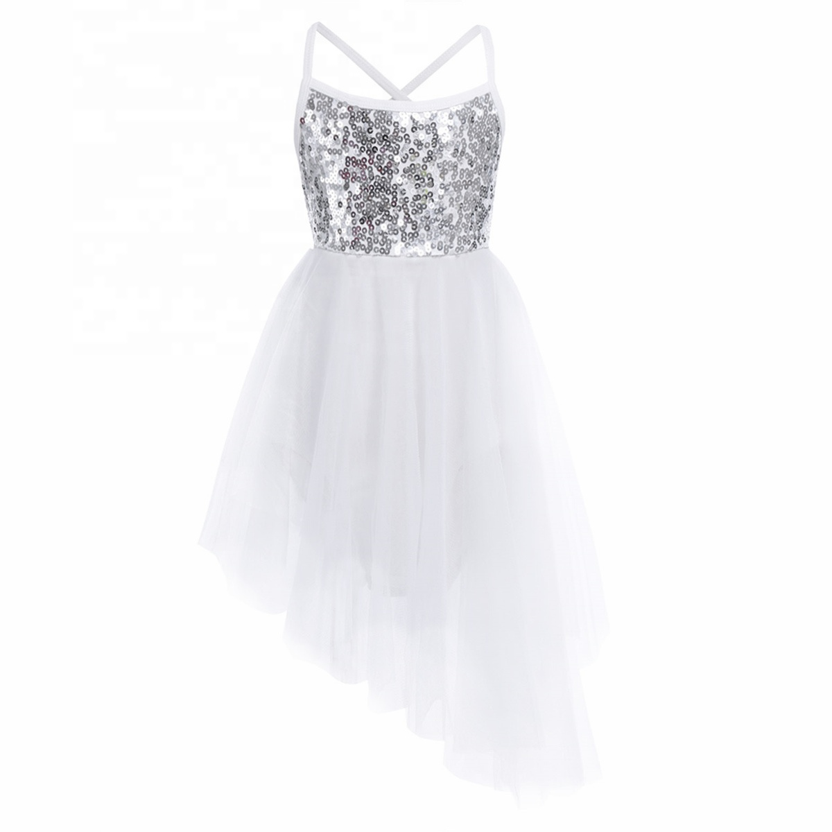 Girls Ballet Latin Dance Dress Kids Gymnastics Sparkle Leotard Dancewear Costume