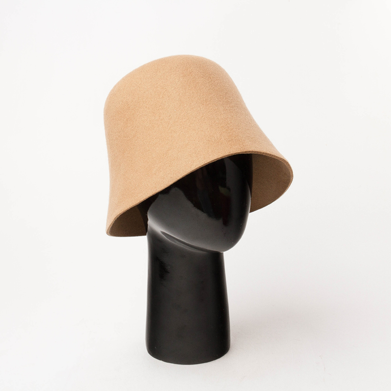 Wholesale Wool Felt Fedora Hats Vintage Fashion Bucket Hat Sombrero De Fieltro Felt Bucket Hat