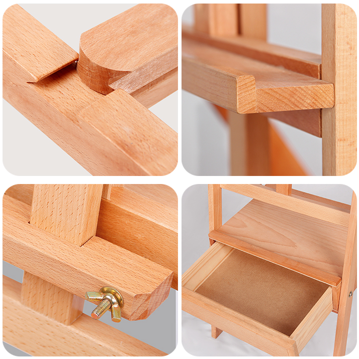 German import beech material easel stable not shake drawer display rack