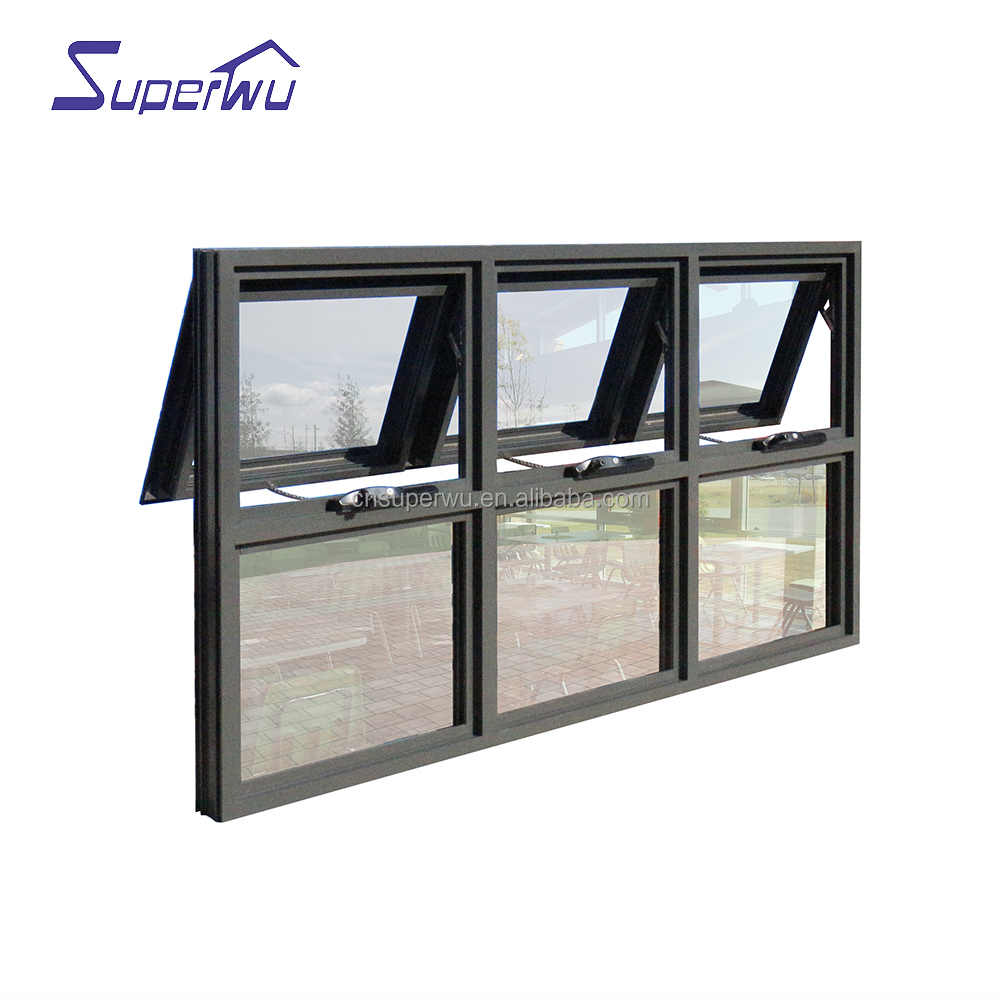 High Quality Product Soundproof Aluminum Glass Windows Awning Window
