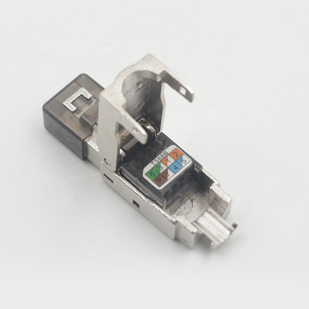 Заводская цена, безинструментальный штекер, экранированный cat6 rj45 stp keystone jack, Модульный штекер