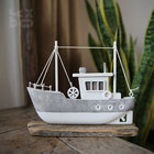 Wood Craft Wood YBOX Handmade American Ocean Style Table Standing Boat MDF Home Decor Wood Craft