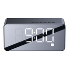 Fm Radio Bluetooth USAMS Multi-functional LED Mirror Alarm Clock Blue Tooth5.0 Support TF Card AUX Play Fm Radio Speaker