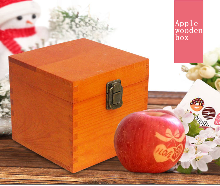 Wood Box Delicate Small Pine Wood Natural Color Wooden Packaging Boxes