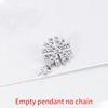 Platinum Empty pendant - no chain
