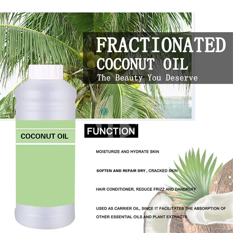 Холоднопрессованное органическое Фракционное и натуральное кокосовое масло для ухода за волосами