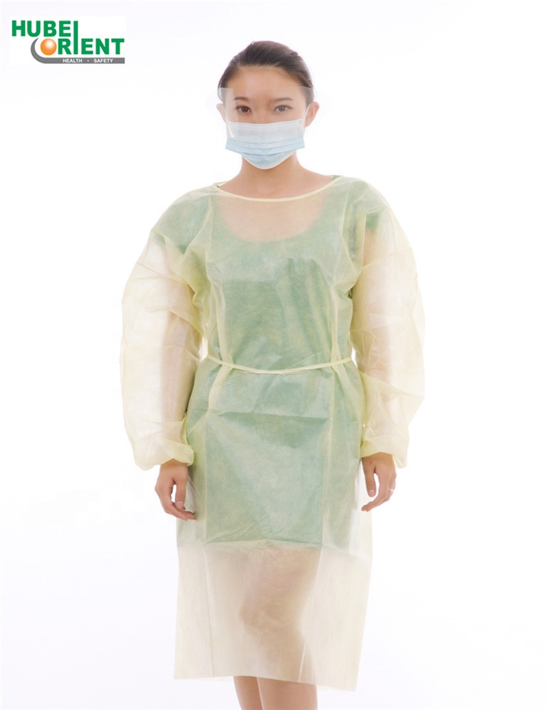 Waterproof PP/PE Disposable isolation gown with elastic cuff factory direct sale - KingCare | KingCare.net