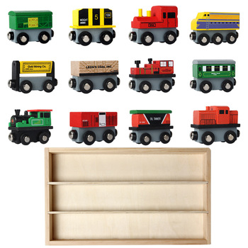Wood Magnetic Thomas Train Wood Railway Helicopter Car Truck Accessories Toy Mini DIY Car For Kids Fit Biro Tracks Tracks Gifts