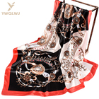 New 90*90 square latest scarf designs wholesale fashion women Soft Belt buckle scarves multiple uses Triangle scarf