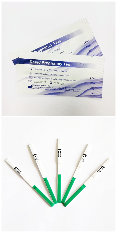 CE/510K/ISO David OEM Быстрый и легкий тест на беременность
