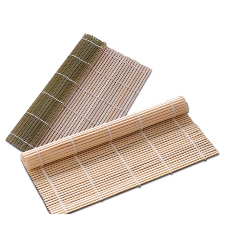 foldable natural rolls mold cutting board roll making tool kit kitchen tools raw rolling mat bamboo curtain sushi making roller