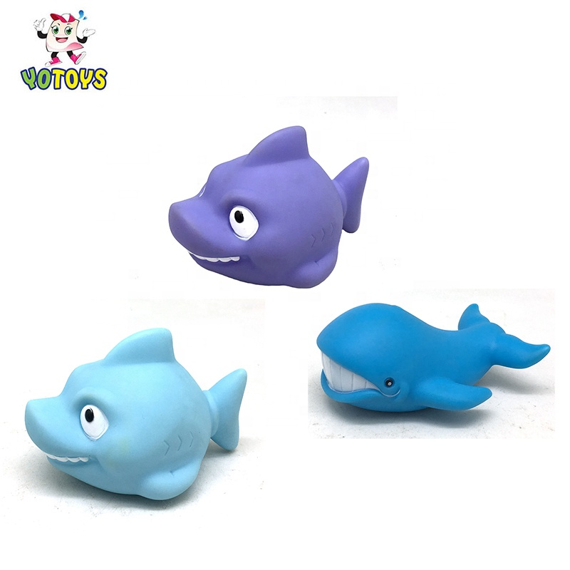 Vinyl Shark Whale Sea Animal Squirt Swimming Pool Water Spray Babies Mini Bath Toy for Toddler Child