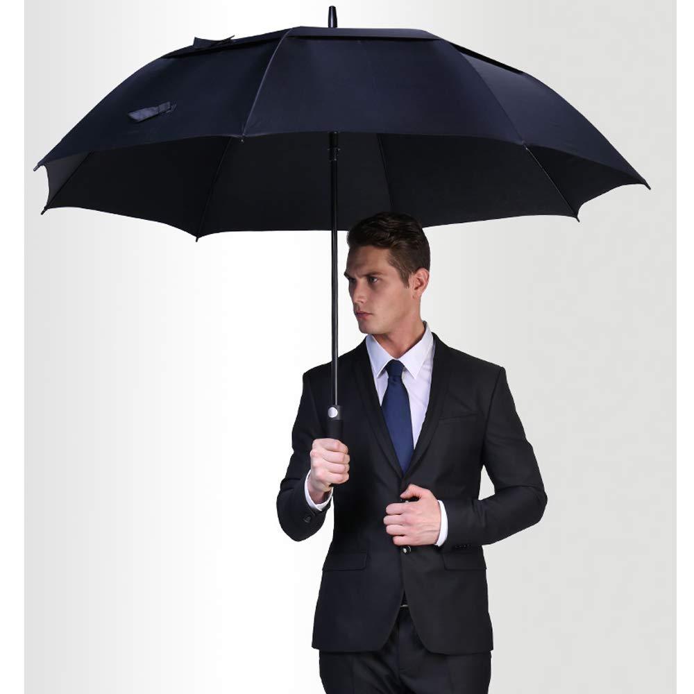 Большие ветрозащитные автоматические зонты, зонты большого размера с двойным навесом для мужчин, зонты-палочки с отверстиями для дождя