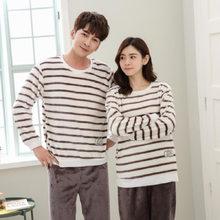 Флисовая Пижама для пар, зимняя теплая Пижама для женщин и мужчин, Пижама для женщин, пижама для женщин, сексуальное нижнее белье, ночная руб...(Китай)