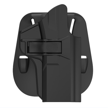 polymer pistol holster tactical to S&W M&P 9mm for 60 Degree Angle Adjustment to Index-finger Release holster With paddle