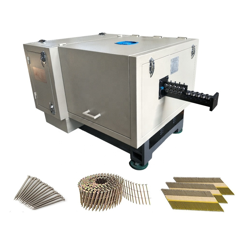 low noise high speed wire nail making machine