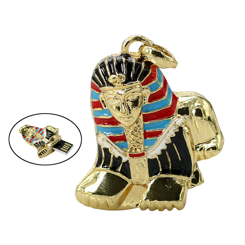Sphinx USB Flash Drive Pen drive 4 16 8 GB 32GB 64GB 128GB Pendrive Metal Necklace Thumb Memory Stick Cle usb Personalized Gift - USBSKY   USBSKY.NET