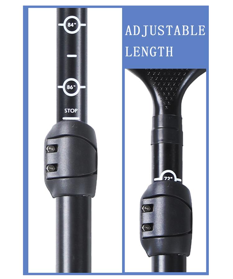 2021 New Design Customized Logo  3-section Adjustable 7075  Aluminum Shaft SUP Paddle with Nylon Blade