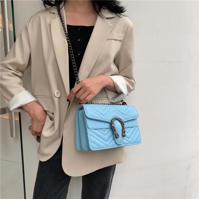 Genuine Leather Chevron Shoulder Bag Top Quality Women Luxury Handbags Designer Purse Brand Caviar Chain Bag Crossbody Bags