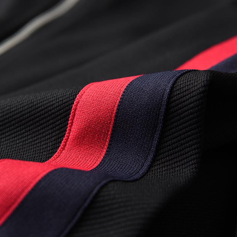 Мужской повседневный облегающий модный спортивный костюм с боковой полосой