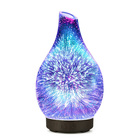 Home Appliance 3D Glass LED Essential Oil Diffuser 100 ML Aromatherapy Diffuser Lamp Humidifier