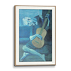 Gallery Wooden Frame Natural Wood(Self Matted In Canvas)
