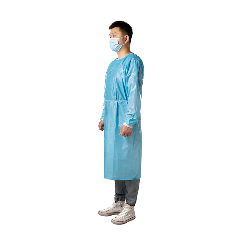 Sunland Blue Disposable Plastic PP+PE Coating Isolation Gown Non Sterile Surgical Gown Bloodproof Doctor's Coveralls Anti-static - KingCare | KingCare.net