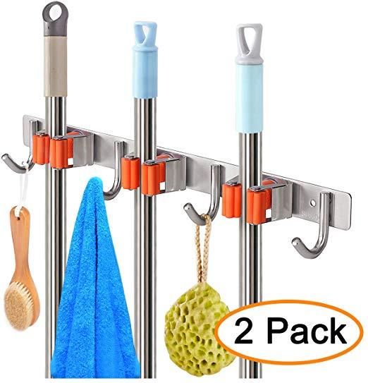 Держатель для швабры и метлы, органайзер для садовых инструментов, вешалка для метлы, стеллаж для хранения метлы или Швабра