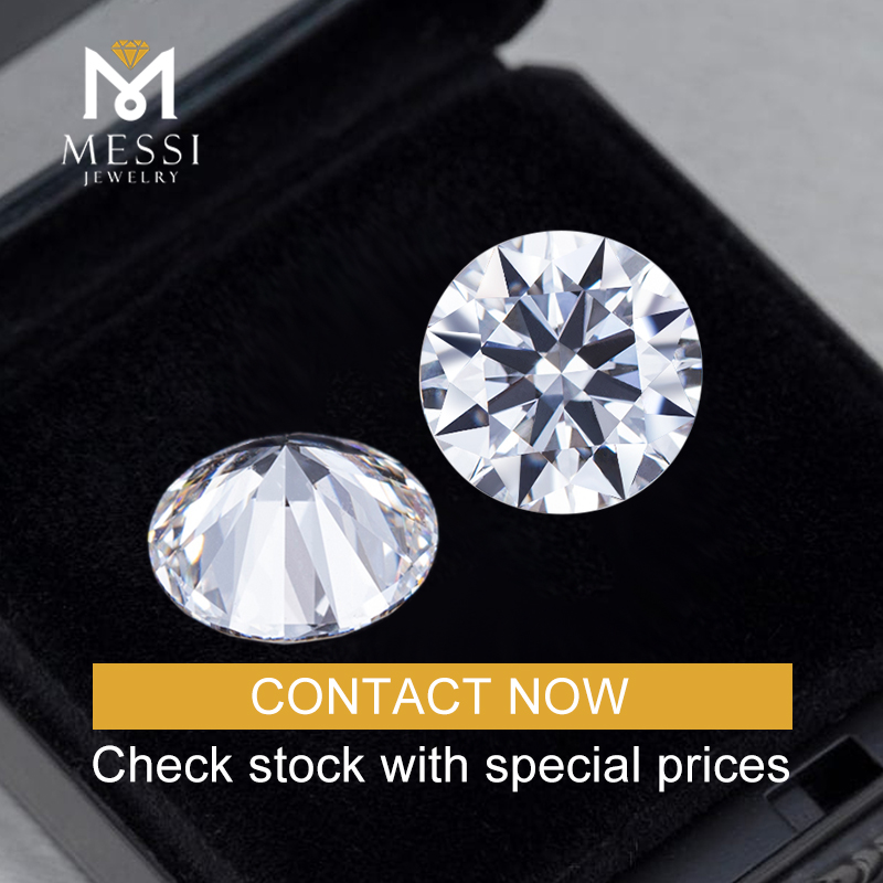 Messi Gems IGI Certificate E VS2 2CT Oval Cut Stock Big Size Lab Grown CVD Synthetic Diamond