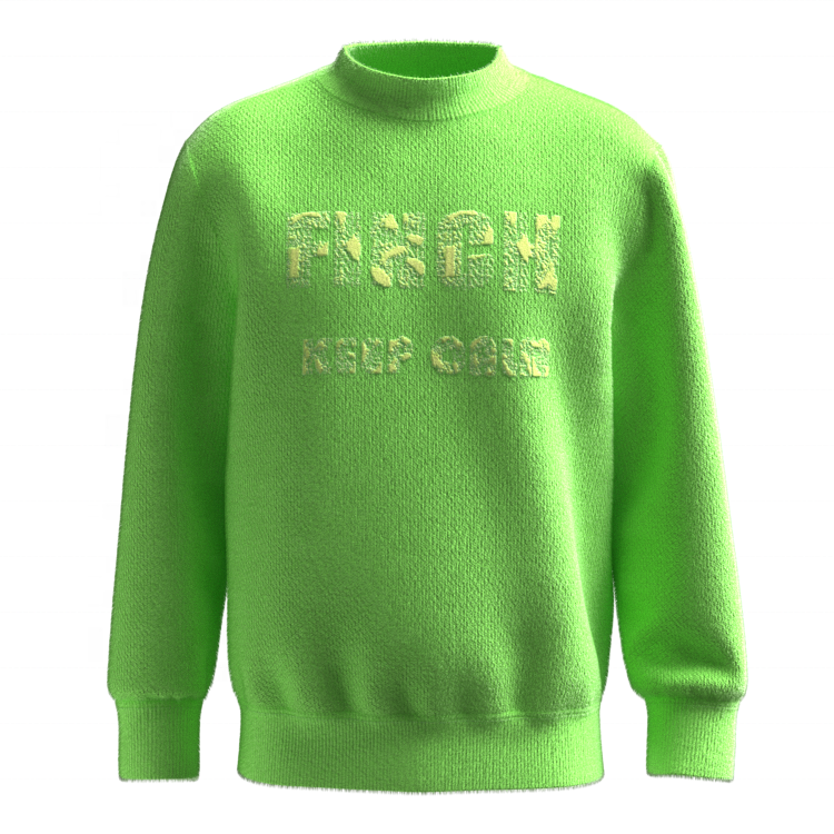 Finch Garment Custom logo jacquard knitted sweater men designer crew neck sweater
