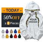 Wholesale High Quality White 100% Cotton Unisex Oversize Hoodies Printing Custom Hoodies