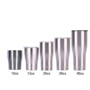 Factory Wholesale Double Walled Vacuum Insulated Stainless Steel Modern Curve Tumbler Cups Manufacturer In Bulk