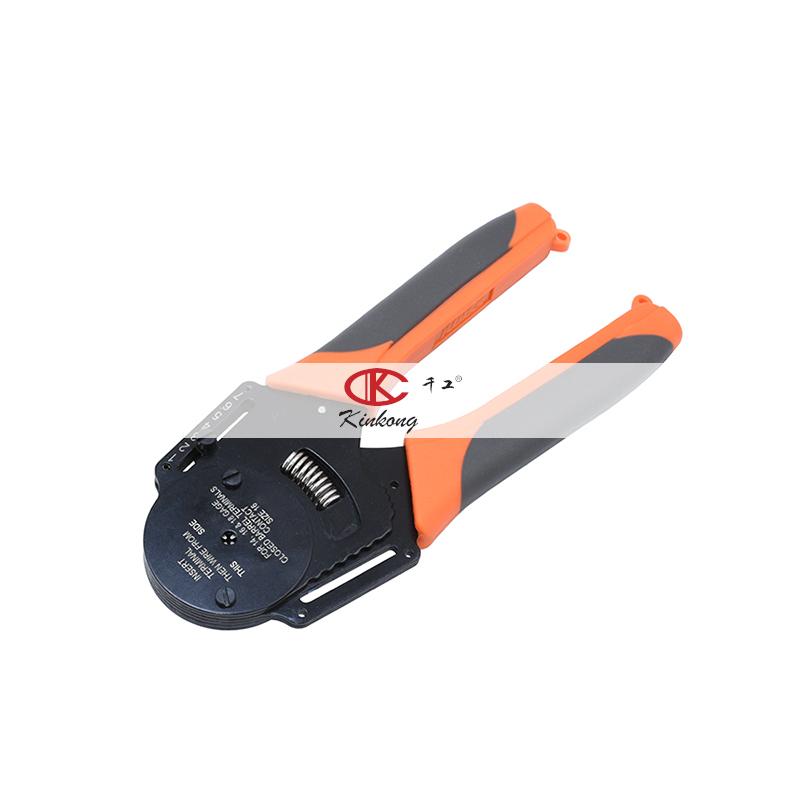 Kinkong 18-14AWG ручные щипцы для проводов, обжимной инструмент для автомобильного разъема
