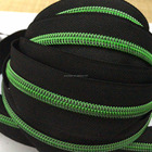 Zipper Zipper Custom 5# Black Tape With Plating Green Color Teeth Nylon Zipper For Bags