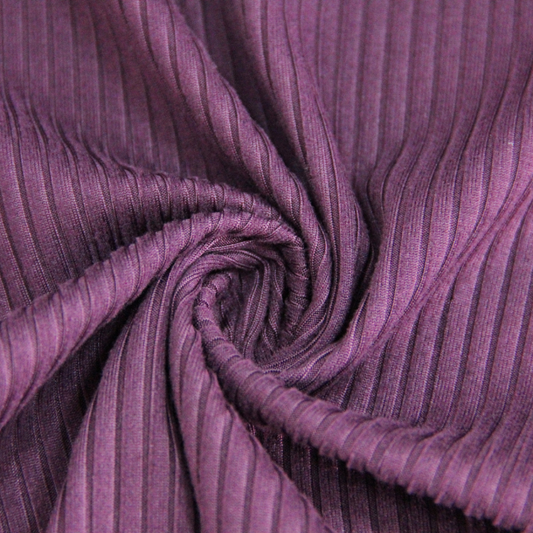 92/8 polyester spandex micro suede 6x3 rib knit fabric-18003618