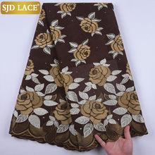 SJD кружевной ткани в африканском стиле, дешевые продажи швейцарского кружева из швейцарской вуали с вышитыми цветами в нигерийском стиле, в...(Китай)