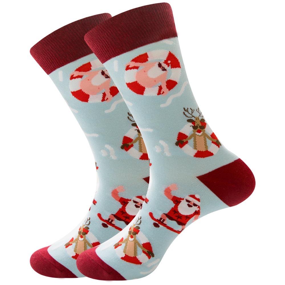 Custom Logo Printed Long Toe New Funny Sock For Christmas Box Gift Animal Head 3d Kids Socks Cartoon