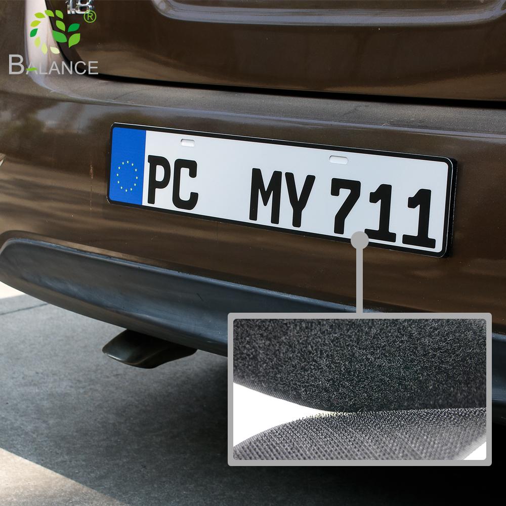Strong self adhesive hook loop universal sticker number motorcycle euro black plate cover holder custom frame car license plates