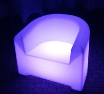 Latest Living Room Furniture Big Couches Glowing LED Sofa