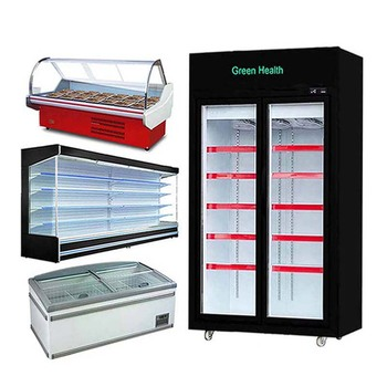 Commercial Supermarket Curved Display Hanging Meat Refrigerator Supermarket Deli Display Refrigerator, Supermarket Meat Dish Chi