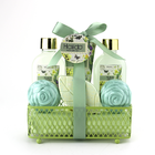 Toiletry Set Gift Bath Set Toiletry Wire Basket Caddy Donut Bath Bombs Gift Set