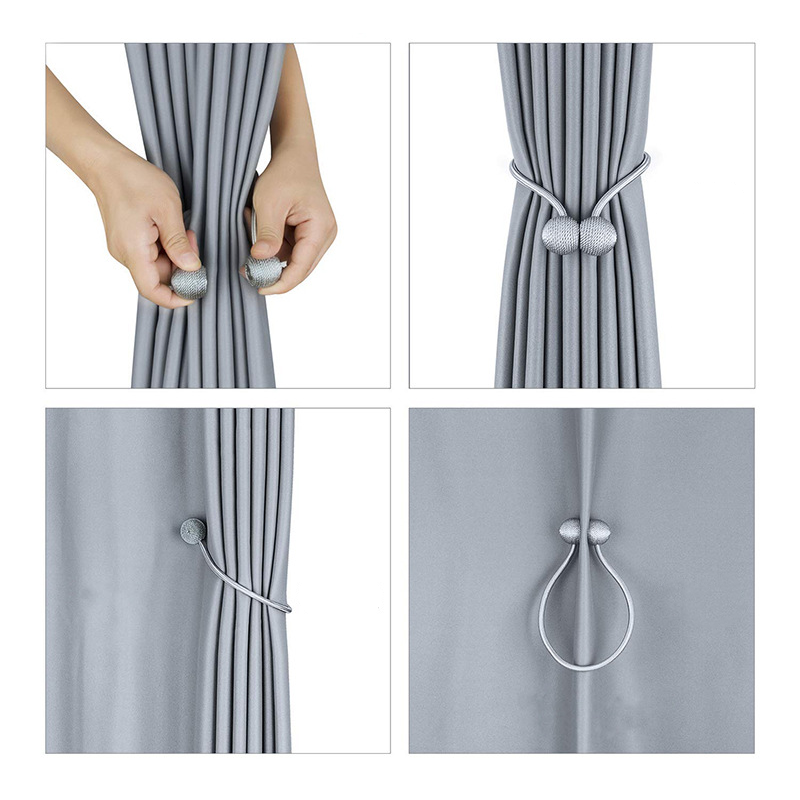 Cheap Curtain Furniture Decorative Rope Curtain Tiebacks Magnetic