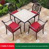 1-4 JL chair 1 wood grain tile AL frame square table 80cm