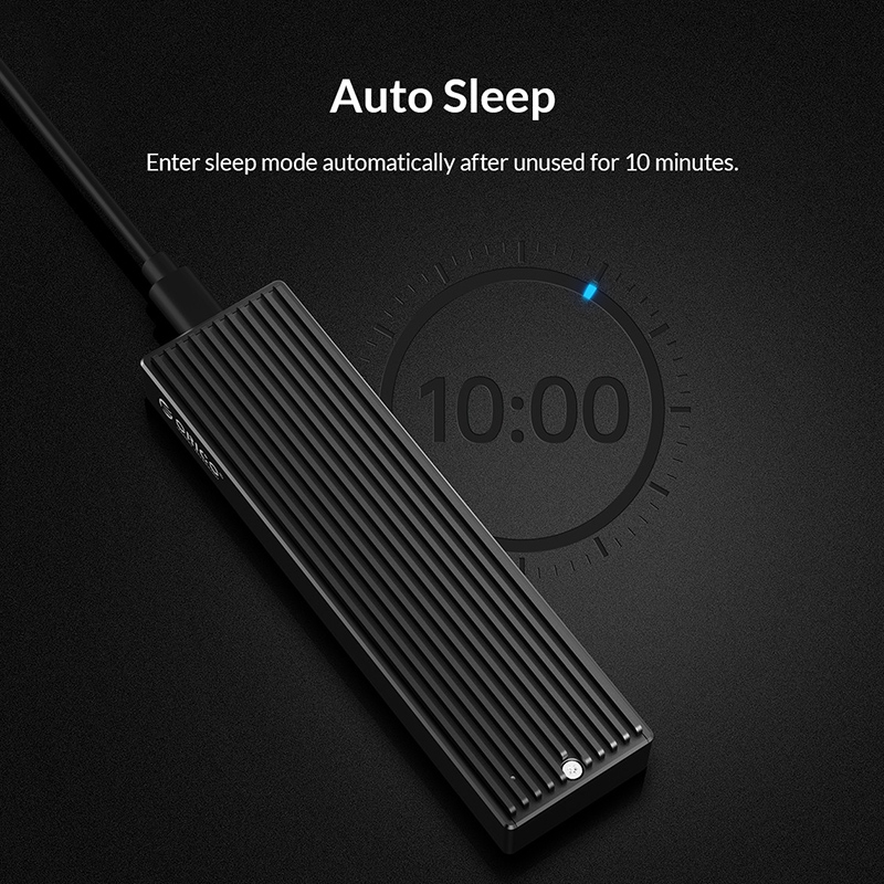 Portable Universal SSD M.2 Metal Mobile Adapter HDD External Hard Drive Enclosure Solid State Flash Disk Case